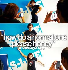 """Harry Styles being ridiculous in This is Us. """"No, Honey; do a normal pose."""" These adorable boys don't pose!"""