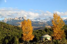 A yurt in Ridgway State Park near Ouray, Colorado. Courtesy Colorado State Parks