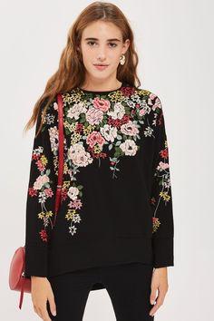 Kimono Embroidered Sweatshirt