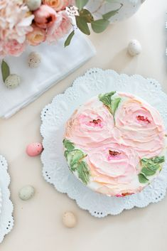 Craftberry Bush | Palette Knife frosted painted cake | http://www.craftberrybush.com