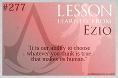 Assassin's Creed Life Lessons