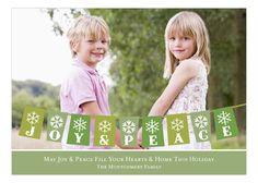 Bunting Holiday Green Photo Card