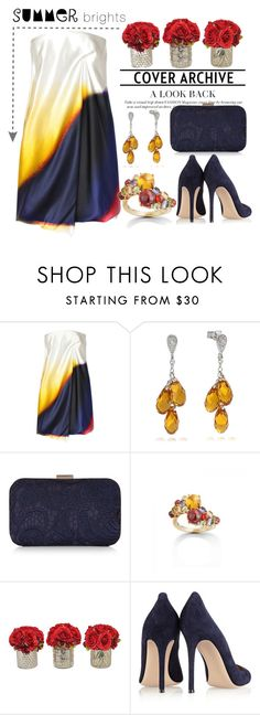 """""""Summer Brights"""" by pixidreams ❤ liked on Polyvore featuring Victoria Beckham, Accessorize, Gianvito Rossi and summerbrights"""