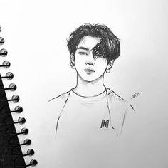 Jimothy 💁♀️ I am posting not at this can't be real art Jimin Fanart, Kpop Fanart, Jimin Black Hair, Realistic Pencil Drawings, Kpop Drawings, Wow Art, How To Draw Hair, Hair Art, Art Tutorials