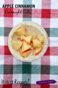 These Apple Cinnamon Overnight Oats are a great quick, healthy, make-ahead breakfast idea! Get it on www.itisakeeper.com