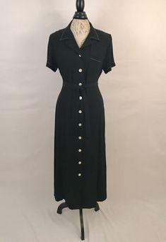 80s Black Pinup Dress