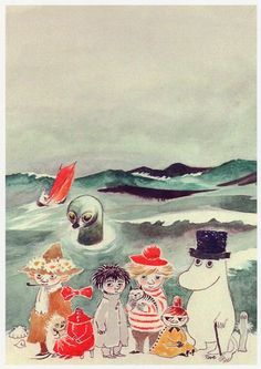 Tales from Moomin valley Illustration By Tove Jansson Tove Jansson, Art And Illustration, Totoro, Les Moomins, Art Postal, Inspiration Art, Envelope Art, All Nature, Mail Art