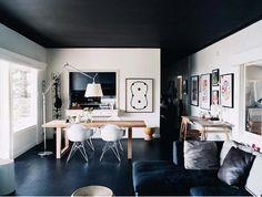 Dark floor & ceiling