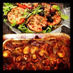 Marsala Chicken Bake and the most delicious Mediterranean Tomatoes