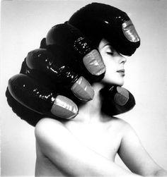 Tadeusz Rolket, untitled, photography ed. 50 × 50 cm, courtesy of Artvovler Fascinator, Headpiece, Mode Bizarre, Black N White Images, Black And White, Cool Photos, Beautiful Pictures, Amazing Photos, Photo Work