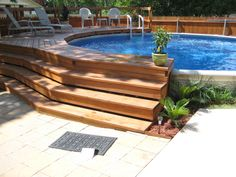 Above Ground Pool Deck Designs pool deck designs for a 24 round above ground plans Three Solutions For Sprucing Up An Above Ground Pool See Best Ideas About Ground Pools And Decking