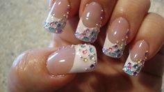 Acrylic Nails With Rhinestones | nails # rhinestones