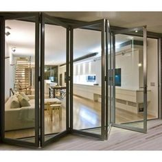MILANO BUILDING PRODUCTS 96 in. x 81 in. Right Swing/Inswing Silver Finished Aluminium Prehung Bifold Patio Door with Aluminium Frame