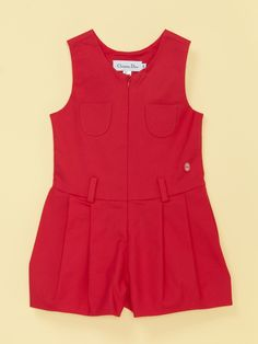 Sleeveless Romper with Pockets