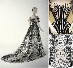 OMG! 1900 Evening Dress. Silk. HOUSE OF WORTH metmuseum