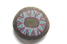 No. 58 | FLORA collection | Painted stones by Amy Komar