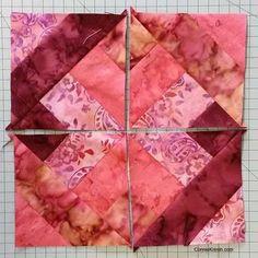104a4b1d5 Hidden Wells batik quilt block finished Quilt Blocks Easy, Easy Quilt  Patterns, Strip Quilts