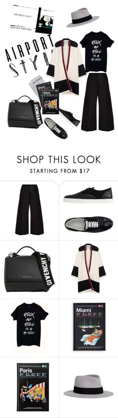 """""""Dance me to end of the world"""" by joannagrece ❤ liked on Polyvore featuring Lemaire, Hogan Rebel, Givenchy, IRO, Monocle and Maison Michel"""