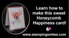 Sweet Honeycomb Happiness Card Tutorial