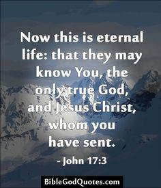 juan 17:3-, ESTO SIGNIFICA VIDA ETERNA: EL QUE ESTEN ADQUIRIENDO CONOCIMIENTO DE TI, EL UNICO DIOS VERDADERO Y A QUIEN TU ENVIASTE JESUCRISTO¡¡¡