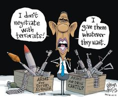 """I Don't Negotiate, I SUPPORT THE TERRORISTS!!!/ just like """"I don't have a plan concerning ISIS"""" not having a 'plan' , is his plan."""
