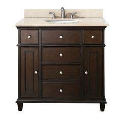 Avanity Windsor Walnut Transitional Bathroom Vanity (Common: 36-in x 21-in; Actual: 36-in x 21.5-in)