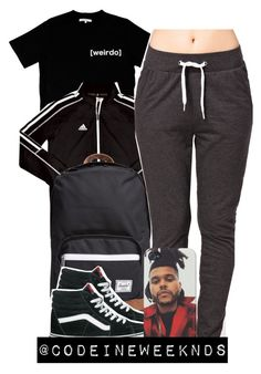 """""""8:3:15"""" by codeineweeknds ❤ liked on Polyvore featuring Illustrated People, adidas, Herschel Supply Co., Jacqueline De Yong and Vans"""