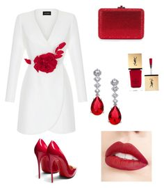 """""""Untitled #5"""" by stella-1002 on Polyvore featuring Christian Louboutin, Yves Saint Laurent, Rasario, Jouer and Eliot Danori"""
