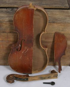 Anton Schroetter Antique Violin Parts for Repair, Display, Project Germany Shadow Box Violin Repair, Learn Acoustic Guitar, Violin Parts, Don Mclean, Electric Violin, Music Love, Playing Guitar, African Art, Guitars