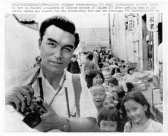 https://flic.kr/p/JkQNvQ | Kyoichi Sawada in Saigon | Saigon: Pulitzer Prize-winning UPI staff photographer Kyoichi Sawada is seen on feature assignment in Chinese section of Saigon 5/3 after getting news of his award. Sawada was honored for his outstanding Viet Nam war coverage.  UPI Radiotelephoto 5/3/66
