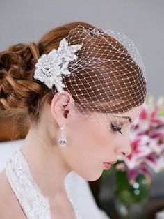 lace birdcage veil - Google Search