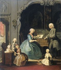 Cornelis Troost, Family Group at a Harpsichord, 1739