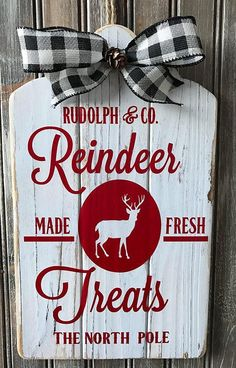 Rudolph Reindeer Feed Sign Farmhouse Christmas Sign Reindeer | Etsy