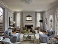john vaccari living room. Mix of old, new, and muted colors.  LOVE.