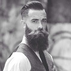 Serious business beard