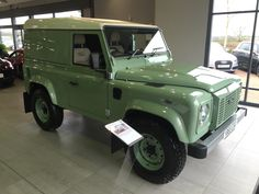 Beautiful example of a delivery mileage Landrover Defender at TH Boler