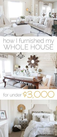 Shopping secrets on how to furnish your house for cheap! How I Furnished My House For Under $3000