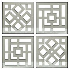 Cool Wall Art. Arabesque Modern Style.Mirrored Wall Panels.