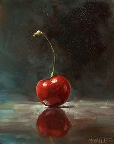 Cherry still life painting by Michael Naples. Photo Sharing and Video Hosting at Photobucket Painting Still Life, Still Life Art, Fruit Painting, Painting Abstract, Paintings Of Fruit, Painting Trees, Painting Flowers, Oil Paintings, Painting Art