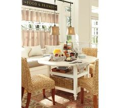 Pottery Barn Shayne Kitchen Table perfectly suited for a welcoming kitchen nook.