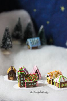 miniature Christmas gingerbread houses