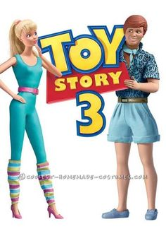 Awesome Homemade Ken and Barbie Toy Story 3 Couple Costume ... This website is the Pinterest of costumes