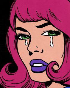 PopArtGirls by Allyson Gutchell Cartoon Kunst, Comic Kunst, Cartoon Art, Comic Art, Vintage Pop Art, Retro Art, Pop Art Illustration, Illustrations, Arte Pop