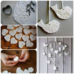 Nice these Christmas decorations? Make her at home … - Christmas Crafts Diy Clay Christmas Decorations, Christmas Fun, Home Crafts, Diy And Crafts, Christmas Crafts, Christmas Ornaments, Holiday, Polymer Clay Crafts, Diy Clay