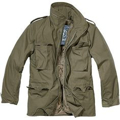BRANDIT CLASSIC M65 MENS ARMY FIELD JACKET WARM TRAVEL PARKA MILITARY COAT OLIVE in Sporting Goods, Camping & Hiking, Camping & Hiking Clothing | eBay