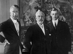 Prince Wilhelm of Prussia (right) with his father, Crown Prince Friedrich Wilhelm and grandfather, the deposed Kaiser Wilhelm II. Young Wilhelm would be outlived by both the older gentlemen. Friedrich Wilhelm reminds me of Prince Charles. Wilhelm Ii, Kaiser Wilhelm, Royal Princess, Princess Victoria, European History, World History, Neues Palais, Adele, John Kerry