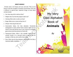 Make your own booklet on the ABCs of animals nearly 200 vocab words from Velerion Damarke on TeachersNotebook.com -  (28 pages)  - Want to make a booklet to help your students study their animals? This quick booklet is fun and educational to make.  Included in this file is: 10 different color front/backs, for variety.  The back explains the major distinguishing points in animal speci