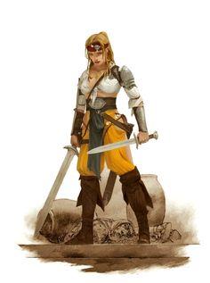Female Human Urban Ranger - Pathfinder PFRPG DND D&D d20 fantasy