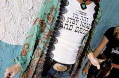 """Womens Music Lyric T Shirt  """"I Think I'll Just Stay Here and Drink"""" on Etsy, $44.00"""