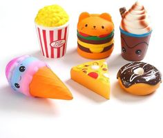 Jumbo Squishies, Cute Squishies, Homemade Squishies, Ice Cream Pizza, Popcorn Cake, Slime Toy, Figet Toys, Slime And Squishy, Baby Doll Nursery